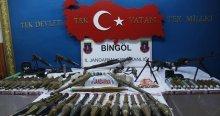 Bingöl'de PKK'nın silah depoları bulundu