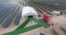 Türkiye'nin en büyük güneş enerji santrali açıldı
