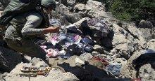 Terörist mezarlığı'nda çok miktarda malzeme ele geçirildi