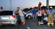 Balıkesir'de trafik kazası, 6 yaralı