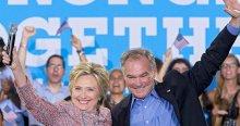 Clinton'ın başkan yardımcısı adayı Kaine