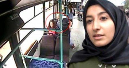 Otobüsün kamerasından olanları izledi, şaştı kaldı